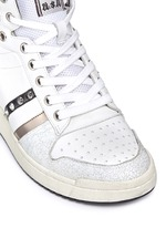 'Prince' stud high top leather wedge sneakers