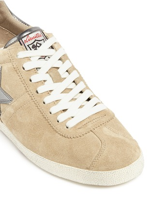 Ash - 'Guiepard' metallic appliqué suede wedge sneakers