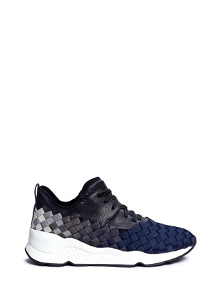 Main View - Click To Enlarge - Ash - 'Match' dégrade woven sneakers