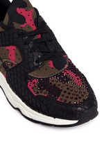 'Mood' hotfix strass snakeskin effect camouflage sneakers