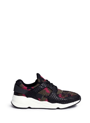 Ash - 'Mood' hotfix strass snakeskin effect camouflage sneakers