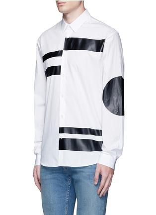 正面 -点击放大 - MCQ ALEXANDER MCQUEEN - 几何拼贴纯棉衬衫