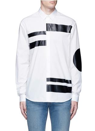 首图 - 点击放大 - MCQ ALEXANDER MCQUEEN - 几何拼贴纯棉衬衫