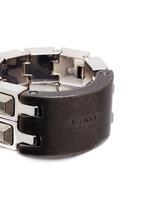 'Debbie' Swarovski crystal hinged cube ring