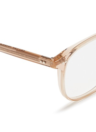 Detail View - Click To Enlarge - Oliver Peoples - 'Scheyer' acetate optical glasses