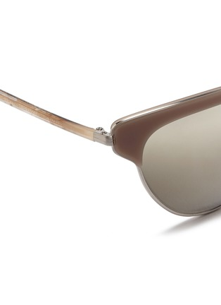 Detail View - Click To Enlarge - Oliver Peoples - 'Josa' acetate trim metal cat eye sunglasses