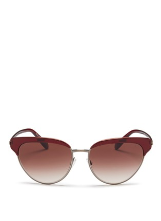 Main View - Click To Enlarge - Oliver Peoples - 'Josa' acetate trim metal cat eye sunglasses