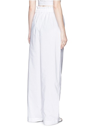 Back View - Click To Enlarge - 3.1 Phillip Lim - Pinstripe palazzo wide leg pants