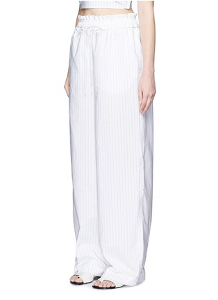 Front View - Click To Enlarge - 3.1 Phillip Lim - Pinstripe palazzo wide leg pants