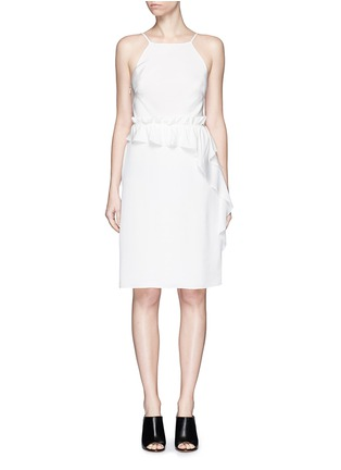 Main View - Click To Enlarge - 3.1 Phillip Lim - Cascading ruffle apron front silk dress