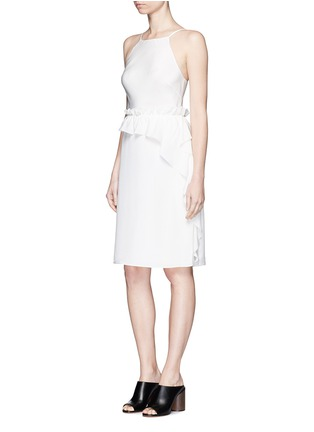 Figure View - Click To Enlarge - 3.1 Phillip Lim - Cascading ruffle apron front silk dress