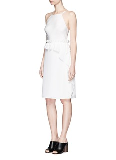 3.1 PHILLIP LIM Cascading ruffle apron front silk dress