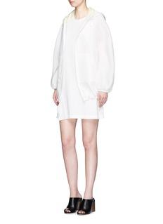 3.1 Phillip LimSilk ruffle trim cotton sleeveless dress
