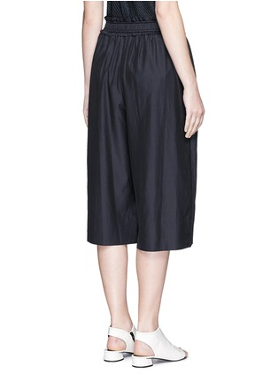 Back View - Click To Enlarge - 3.1 Phillip Lim - Paperbag waist silk-cotton parachute culottes