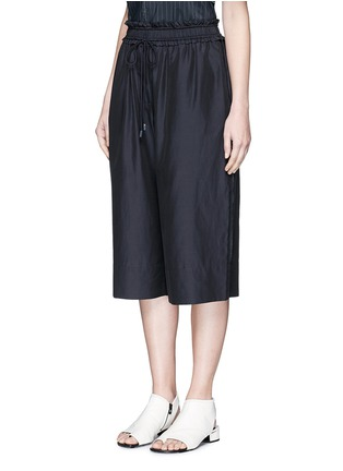 Front View - Click To Enlarge - 3.1 Phillip Lim - Paperbag waist silk-cotton parachute culottes