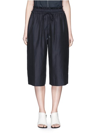 Main View - Click To Enlarge - 3.1 Phillip Lim - Paperbag waist silk-cotton parachute culottes