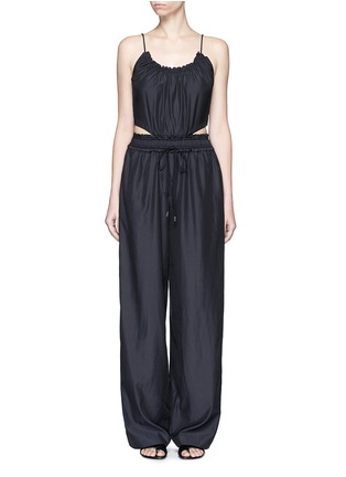 Main View - Click To Enlarge - 3.1 Phillip Lim - Paperbag waist silk-cotton tank jumpsuit