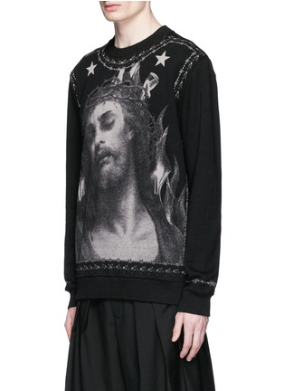 Front View - Click To Enlarge - Givenchy Beauty - Barb wire Jesus print sweatshirt