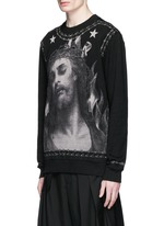 Barb wire Jesus print sweatshirt