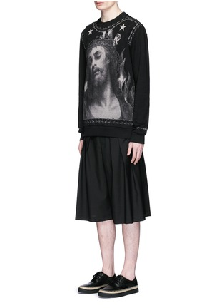 Figure View - Click To Enlarge - Givenchy Beauty - Barb wire Jesus print sweatshirt