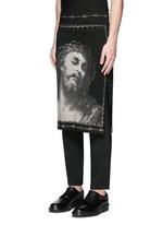 Barb wire Jesus print skirt
