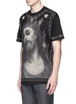 Barb wire Jesus print T-shirt