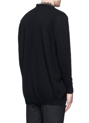 Back View - Click To Enlarge - Givenchy - Chain strap front cashmere cardigan
