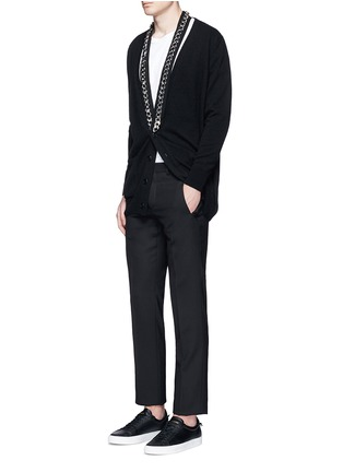 Figure View - Click To Enlarge - Givenchy - Chain strap front cashmere cardigan