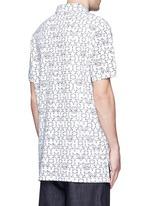 Monogram print cotton polo shirt
