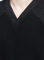 Stripe tech jersey top
