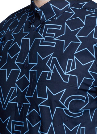 Detail View - Click To Enlarge - Givenchy - Monogram print cotton poplin shirt