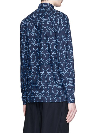 Back View - Click To Enlarge - Givenchy - Monogram print cotton poplin shirt