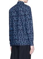 Monogram print cotton poplin shirt