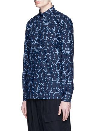 Givenchy-Monogram print cotton poplin shirt
