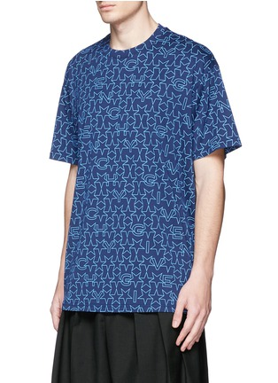 Front View - Click To Enlarge - Givenchy - Monogram print T-shirt