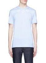 Star print cotton slub T-shirt