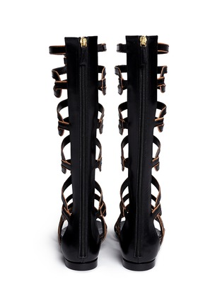 Back View - Click To Enlarge - Pierre Hardy - Geometric cutout leather gladiator sandals