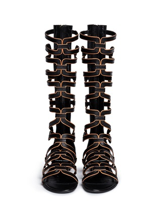 Figure View - Click To Enlarge - Pierre Hardy - Geometric cutout leather gladiator sandals