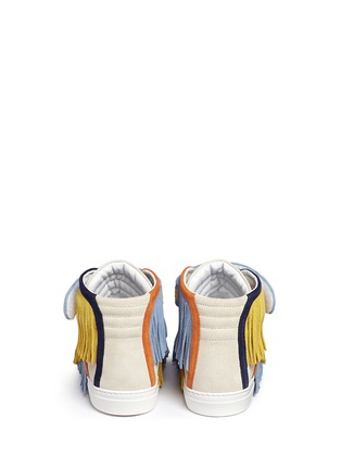Back View - Click To Enlarge - Pierre Hardy - Fringe strap suede high-top sneakers