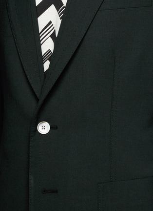Detail View - Click To Enlarge - Dolce & Gabbana - Peak lapel stretch wool blazer