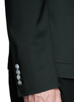 Peak lapel stretch wool blazer