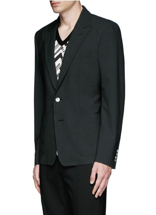 Front View - Click To Enlarge - Dolce & Gabbana - Peak lapel stretch wool blazer
