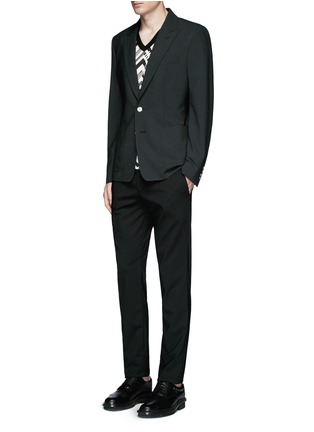 Figure View - Click To Enlarge - Dolce & Gabbana - Peak lapel stretch wool blazer