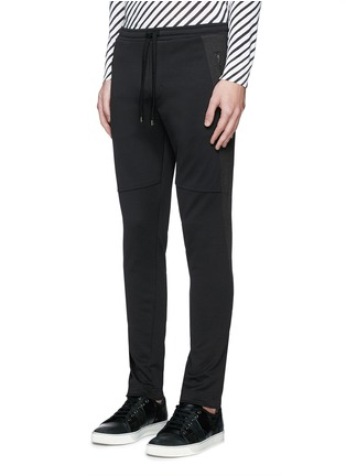 Front View - Click To Enlarge - Dolce & Gabbana - Side stripe zip cuff jogging pants