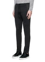 Side stripe zip cuff jogging pants