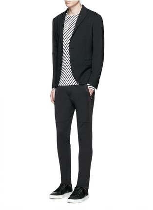 Figure View - Click To Enlarge - Dolce & Gabbana - Side stripe zip cuff jogging pants