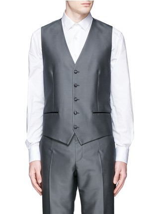 Detail View - Click To Enlarge - Dolce & Gabbana - 'Sicilia' check jacquard three piece tuxedo suit