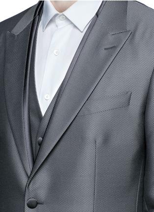 - Dolce & Gabbana - 'Sicilia' check jacquard three piece tuxedo suit