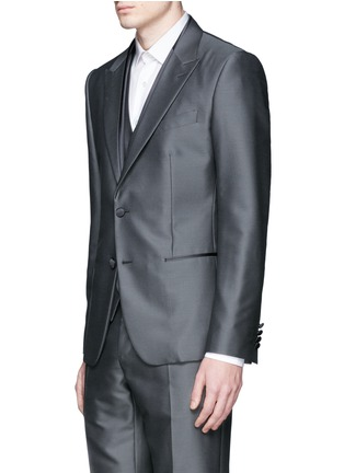 Front View - Click To Enlarge - Dolce & Gabbana - 'Sicilia' check jacquard three piece tuxedo suit
