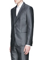 'Sicilia' check jacquard three piece tuxedo suit